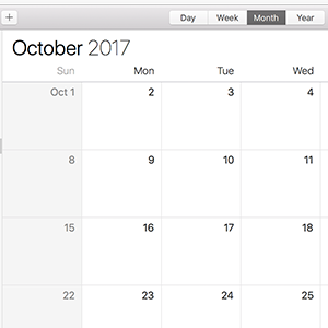 Calendar screen cap