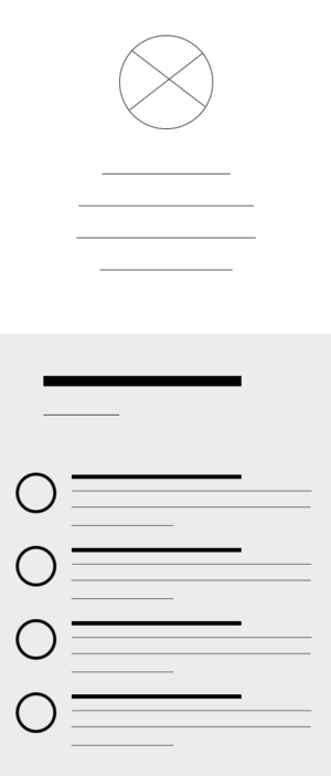 Mobile Wireframe of Hi! tech site