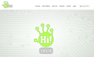Hi! Tech website screen cap
