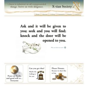 Xtian website circa ~2006