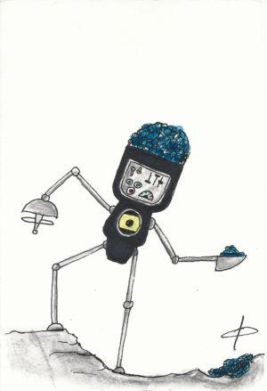 A walking Blot Bot
