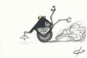 A Unicycle Blot Bot