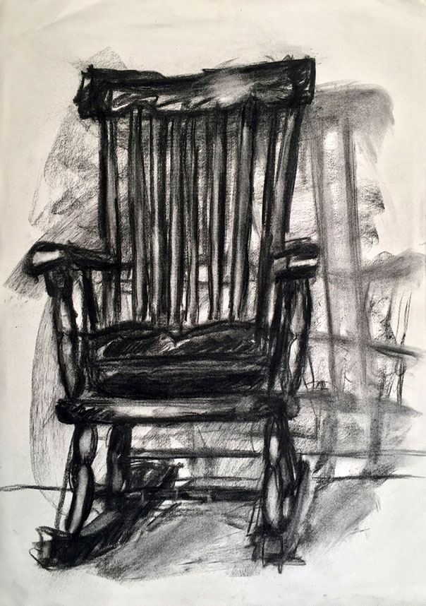 Drawing of Rocking Chair