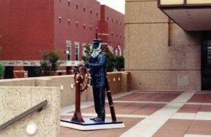 Angle shot of statue