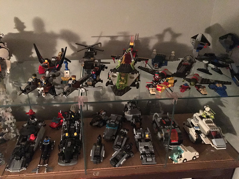 a collection of lego models