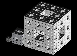CAD image of a Menger Sponge