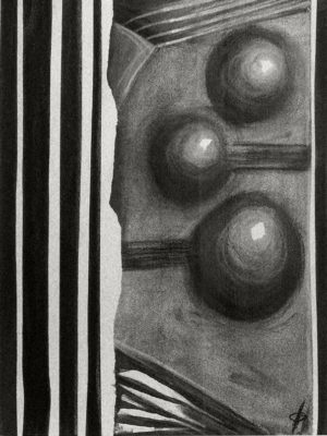 Amorphous Abstract Charcoal Drawing