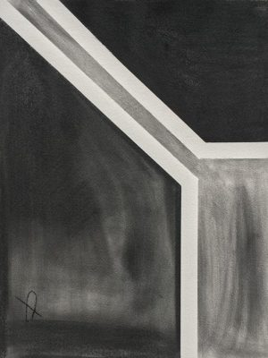 Geometric Abstract Charcoal Drawing