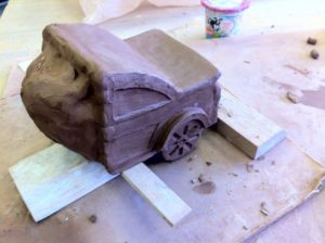 wet clay sculpture