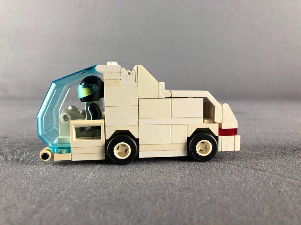 profile view of white van