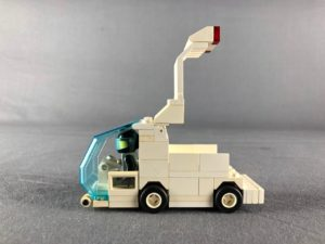 Profile of van with boot fully open