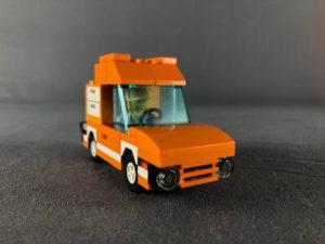 Tangerine Truck 3/4 view